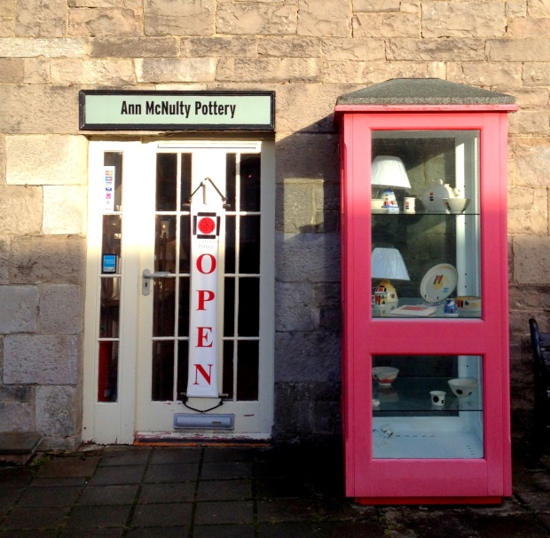 Phone box and pottery