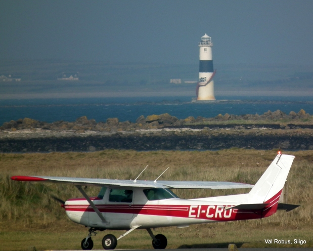 The plane and the lighthouse