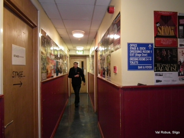 Francis in the corridor