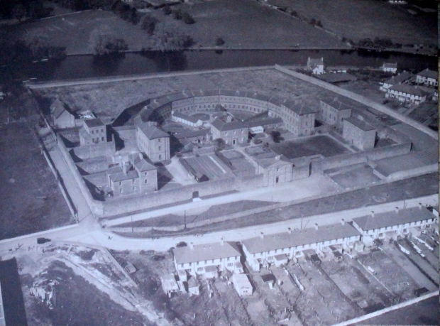 Aerial photo of the prison