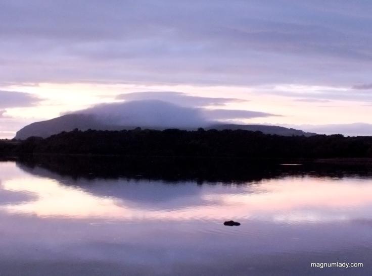 Knocknarea hidden by clouds