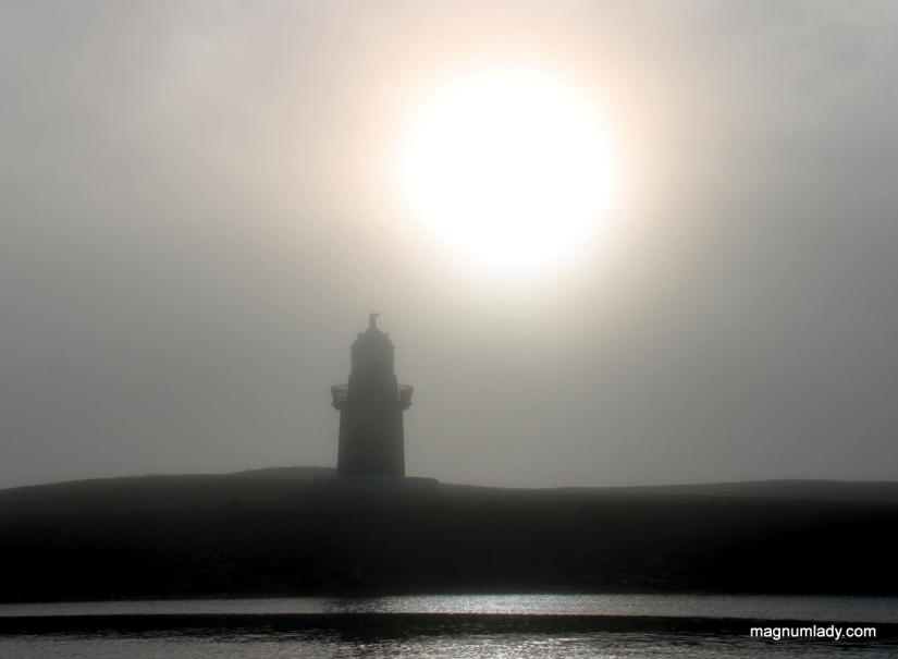 The sun and the lighthouse