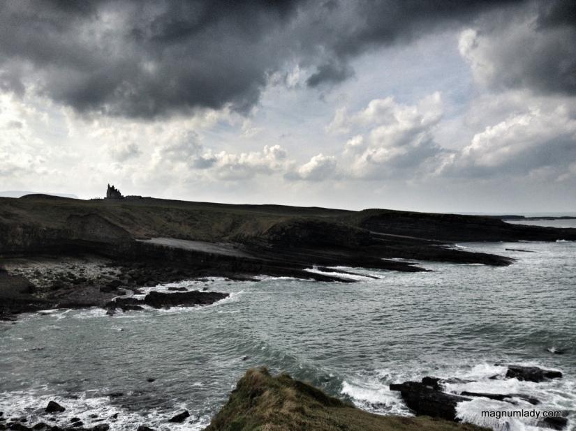Castle, Mullaghmore, Sligo with a cloudy sky