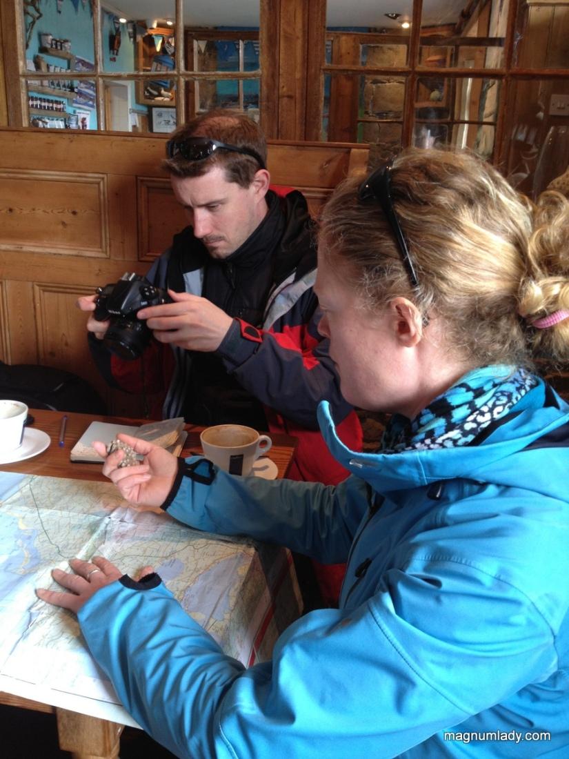 Auriel showing us the map