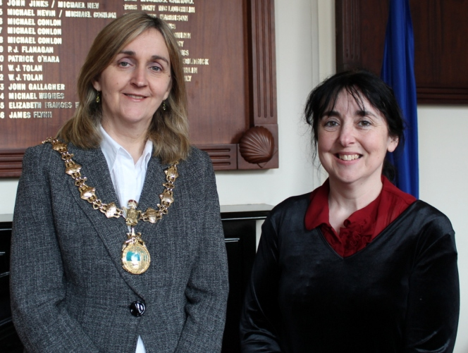 Mayor Marcella McGarry and me!