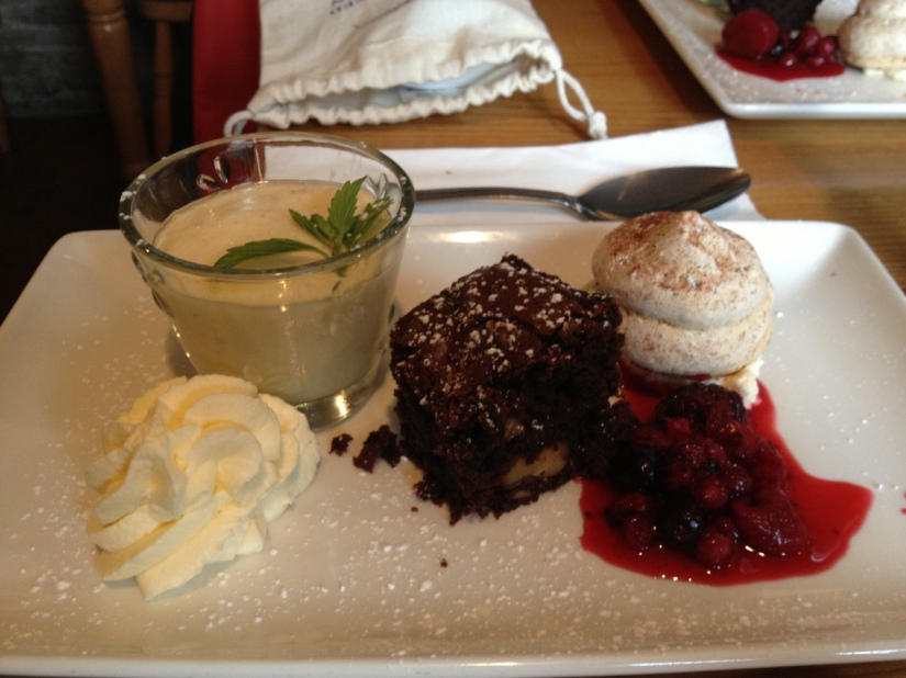 Desserts from Eithna's by the sea
