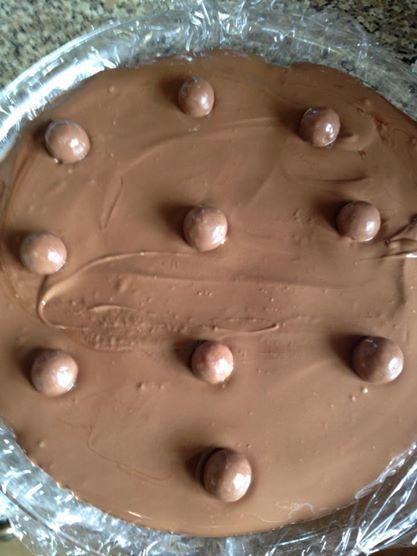 Mars bar and Malteser cake