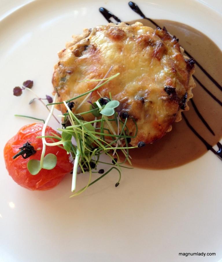 Mixed Mushroom, Baby Leek & Gruyere Cheese Tartlet