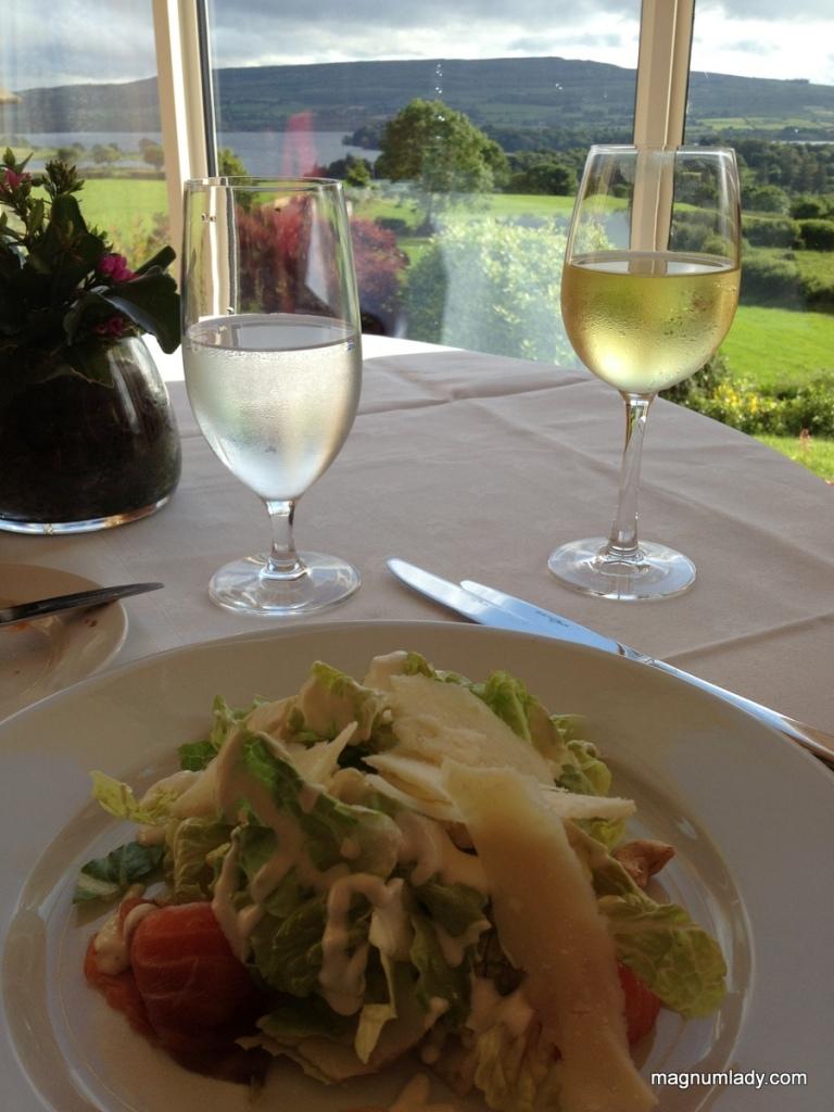 """Caesar"" Salad with Cashew Nuts & Parmesan Shavings"