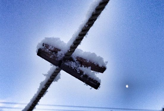 The peg, the snow and the moon