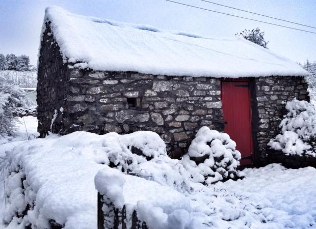 The cottage with the red door