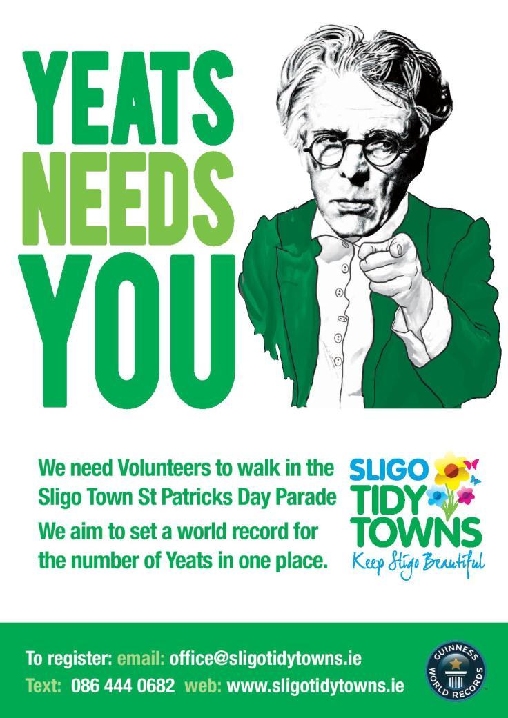 Yeats Needs You
