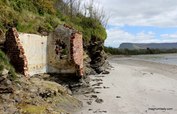 Ruins on Lissadell Beach