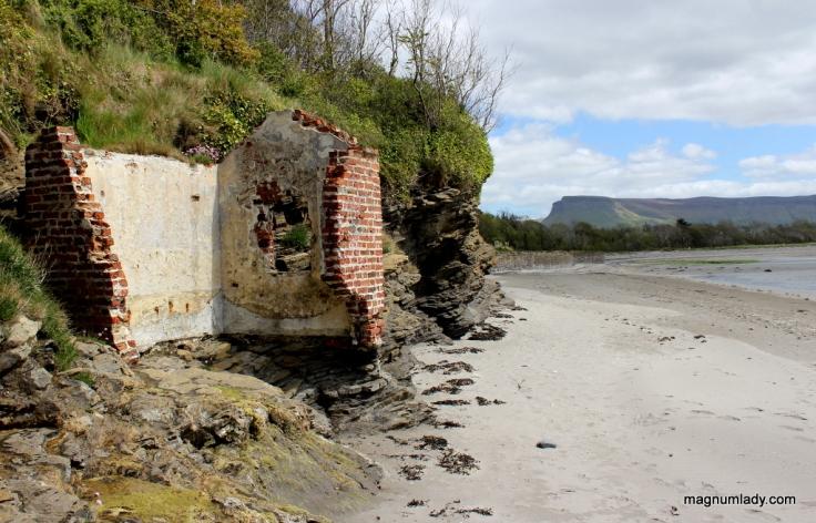 Ruins on Lissadell Beach
