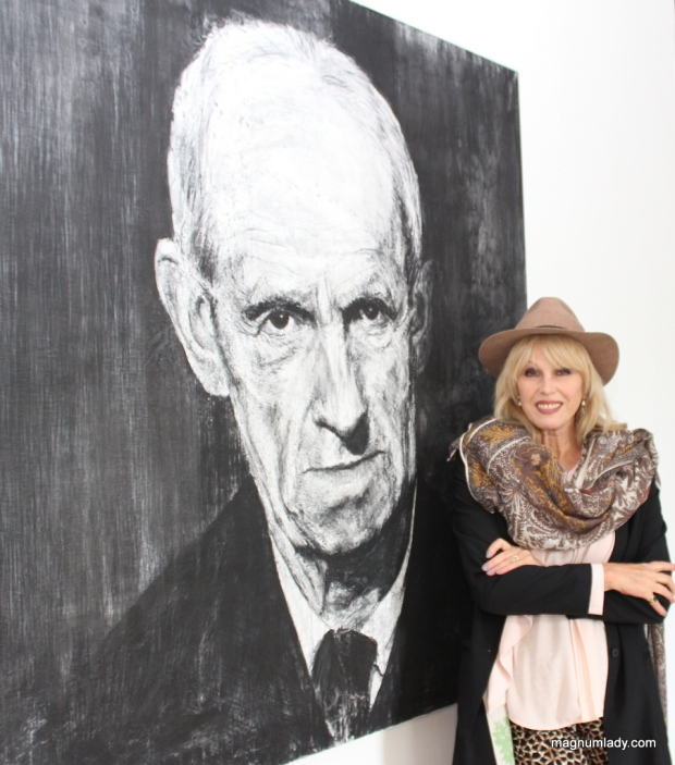 Joanna with Michael Wann's portrait of Jack B Yeats