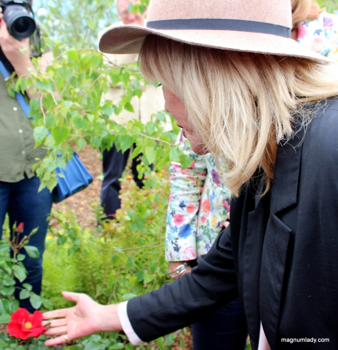 Joanna with her WB Yeats rose