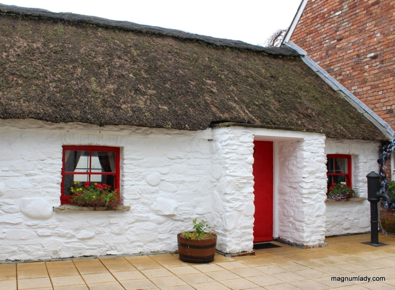 Thatched cottage in the craft village