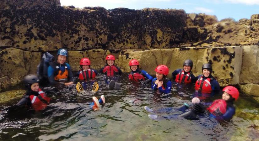 Relaxing in the rock pool