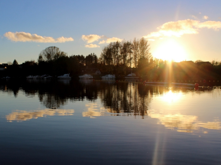 Sunset over the River Erne