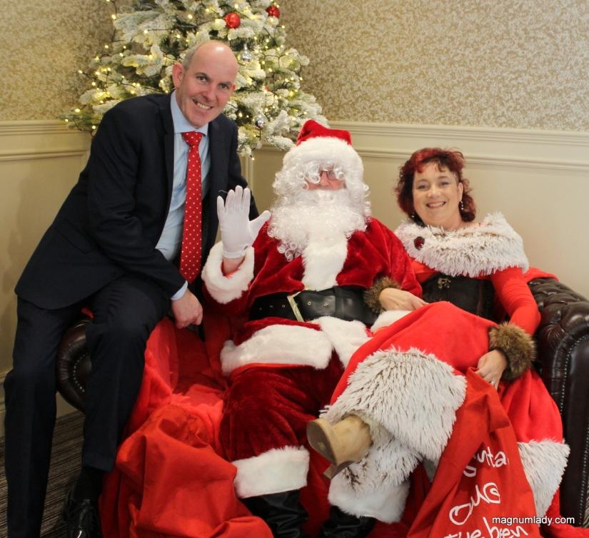 Joe, Santa and Mrs. Claus