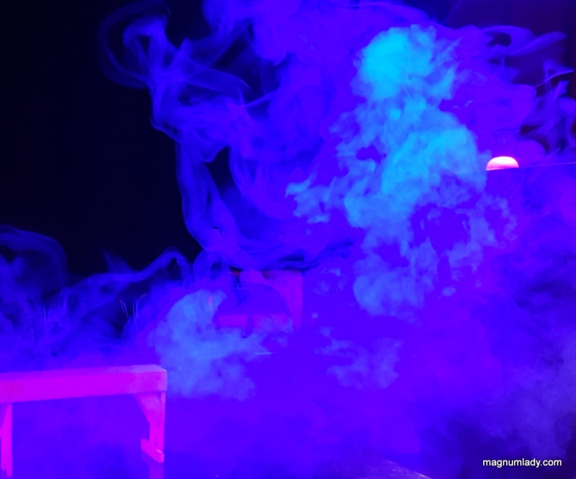 A person in the smoke