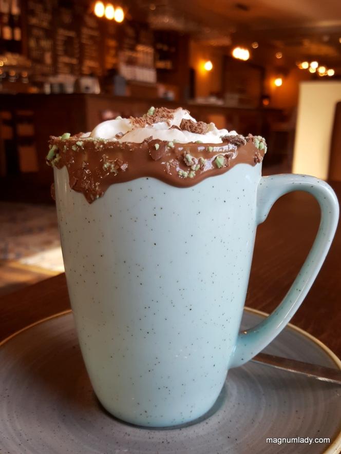 Mint Aero Hot Chocolate