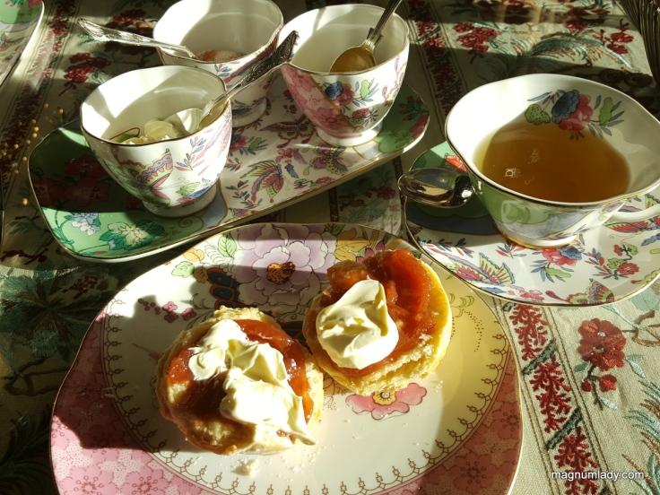 Scones with clotted cream