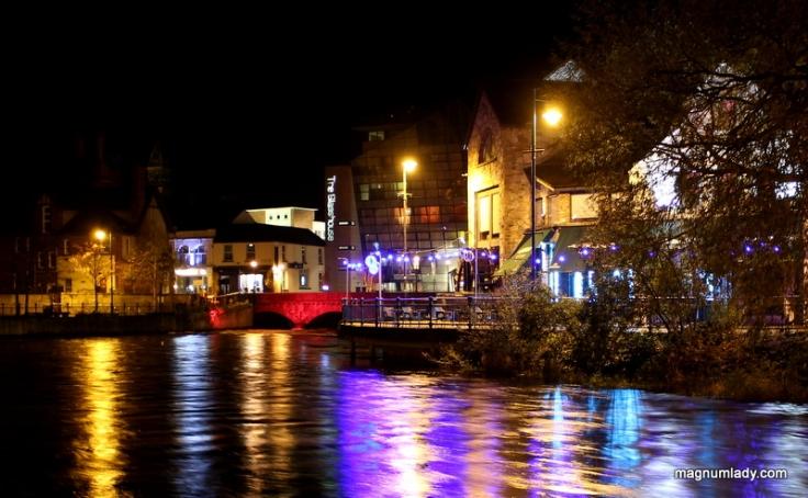 The Garavogue River, Sligo at night