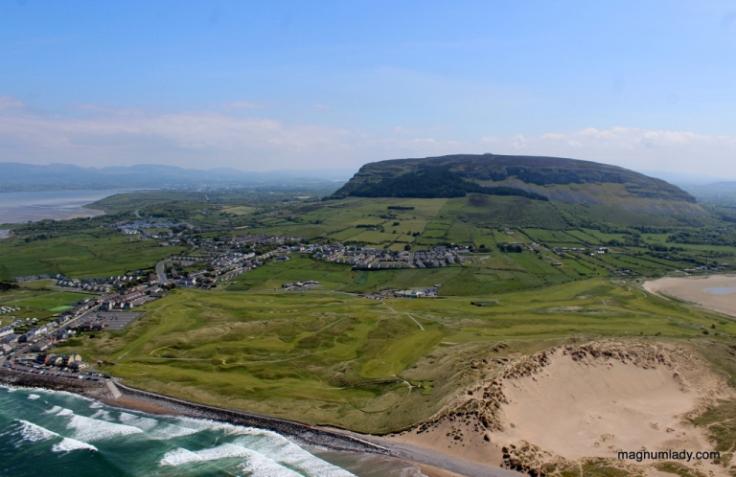 Irish landscape aerial photo