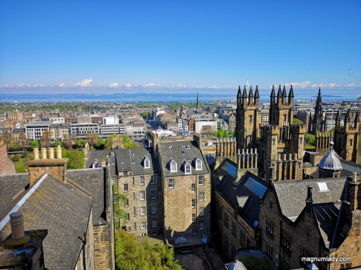 The view over Edinburgh